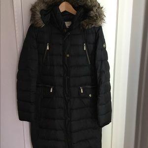 Black Michael Kors Down Puffer Winter Coat
